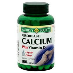 Tures Bounty Multivitamin Nature's Bounty Calcium with Vitamin D3 - 100 Softgels