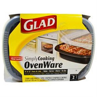 Glad SimplyCooking OvenWare 9x12 Pans & Lids-2ct