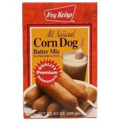 Fry Krisp Corn Dog Mix, All Natural, 9.5 oz