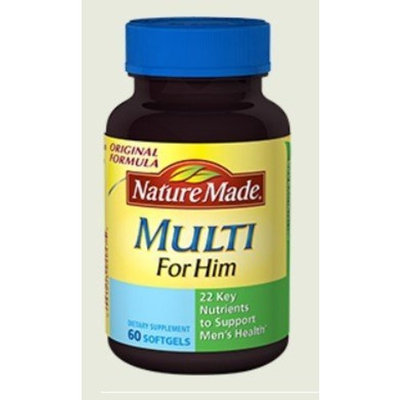 Nature Made Multi for Him Vitamin & Mineral Softgels, 60 ct