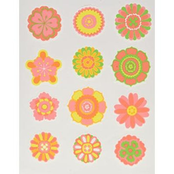 Lucks Edible Image, Bright Flower Embellishments, 2 Inch, 144 Count