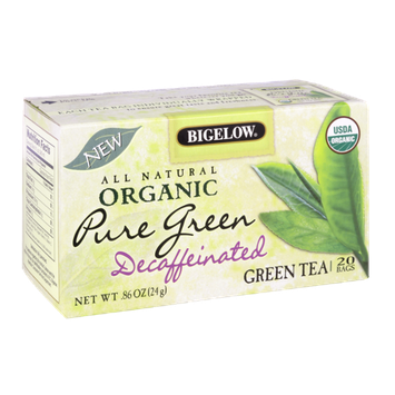 Bigelow All Natural Organic Pure Green Decaffeinated Green Tea