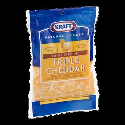 Kraft Finely Shredded Cheese Triple Cheddar