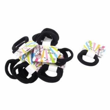 Women Hairstyle DIY Black Elastic Hair Bands Ties Headwear Ponytail Holder 20Pcs