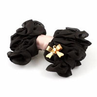 Girls Hairdressing Coffee Color Chiffon Bow Tie Decor Alligator Hair Clips