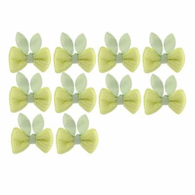 5 Pairs Bow Boutique Girl Alligator Clip Hairclip Hair Pin Light Green