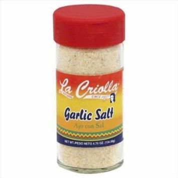 La Criolla 4. 75 oz. Garlic Salt, Case Of 12