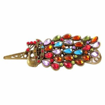 Peacock Design Rhinestone Hair Barrette Hairpin Clips Party Gift