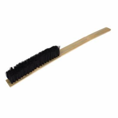 60cm Length Bamboo Handle Handheld 7 Rows Nylon Brush Cleaning Tool Black