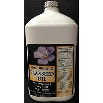 Fresh Cold Pressed Flax Seed Oil 1 gallon
