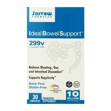 Jarrow Formulas Ideal Bowel Support 299v, 30 Veg Capsules, 2 Pack