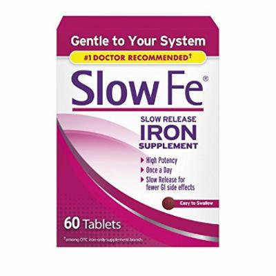 Slow Fe Iron Supplement Tablets, 60 Count Pack of 3