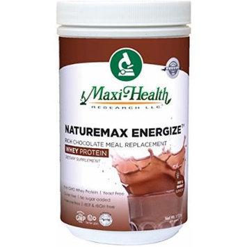 Maxi Health Naturemax Energize Whey Protein, Rich Chocolate, 1.17 Pound
