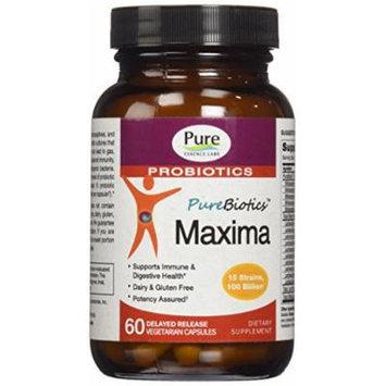 Pure Essence Labs PureBiotics Maxima - 15 Probiotic Strains - 100 Billion CTU - 60 Delayed Release Vegetarian Capsules