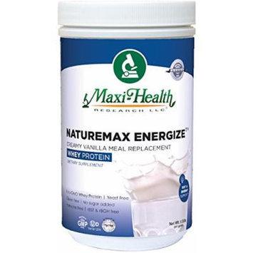 Maxi Health Naturemax Energize Whey Protein, Creamy Vanilla Flavor, 1.17 Pound