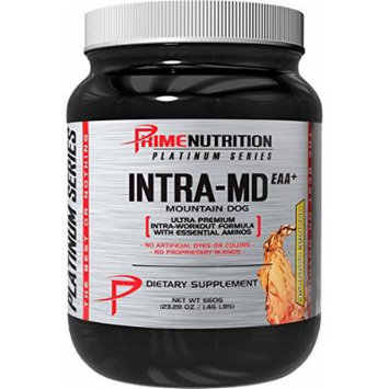 Intra-MD EAA+ , Prime Nutrition , No-Carb Peri-Workout Formula , Formulated By John Meadows , 23.28 oz , 30 Servings (Orange Carnage)