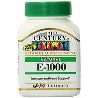 21st Century E 1000 I.U. Natural (D-Alpha) Softgels, 55-Count Pack of 2