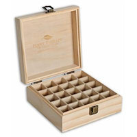 Wooden Essential Oil Box - Holds 25 Bottles Size 5-15 ml