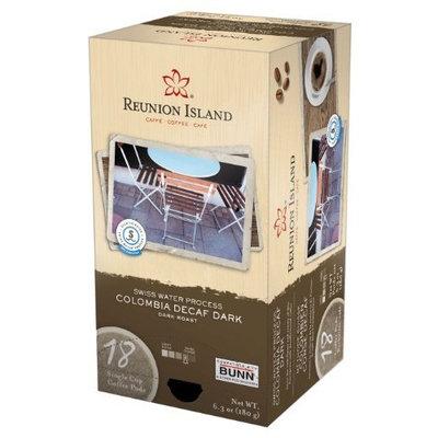 Reunion Island RI58201 Swiss Water Process Dark Decaf Single Serve Coffee Pods, 18-count