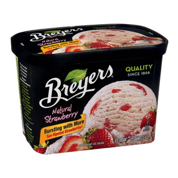Breyers All Natural Strawberry Ice Cream 48 oz