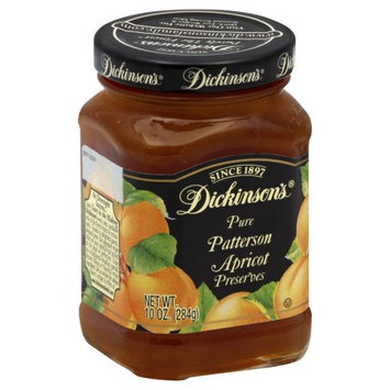 Dickinsons Preserves, Pure, Patterson Apricot, 10 OZ (Pack of 6)