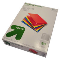 up & up Up & Up 20ct Letter Size Colored Hanging File Folders