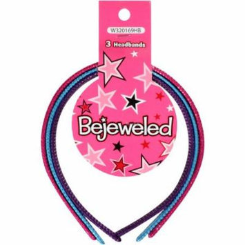 Bejeweled Fabric Headbands, 3 count