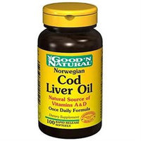 Good 'N Natural - Norwegian Cod Liver Oil - 100 Softgels