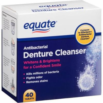 Equate Antibacterial Denture Cleanser Tablets, 40 count