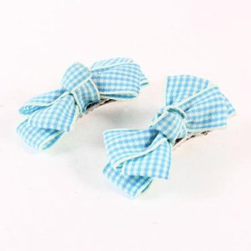 Pair Baby Girls Blue Butterfly Decor Barrette Hairclip Alligator Clip