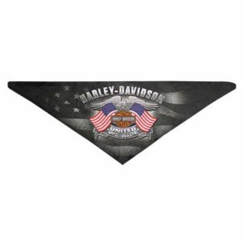 Harley-Davidson Men's United We Ride 3-IN-1 Fleece Bandana, Black BAC12530