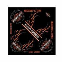 Harley-Davidson Men's Bandana, Long Bar & Shield Black Head Wrap BA31266