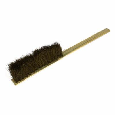 Long Bamboo Handle Handheld 7 Rows Bristle Brush Cleaning Tool Brown