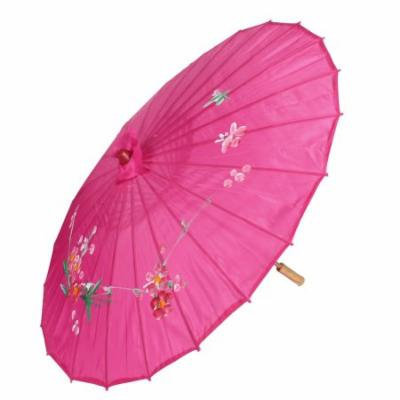 Floral Pattern Bamboo Ribs Dancing Umbrella Halloween Party Decor