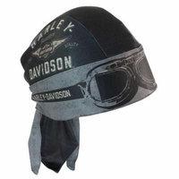 Harley-Davidson Men's Headwrap, Aviator Moisture Wicking, Black HW07875