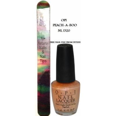 OPI Nail Lacquer PEACH A BOO NL D20 (Free Nail File From fetish for Natural Nails And Nail Tips WASHABLE)