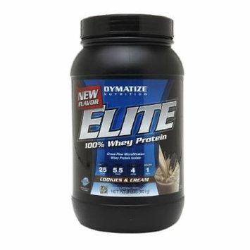 Dymatize Nutrition Elite 100% Whey Protein, Cookies & Cream 2 lbs (907 g)