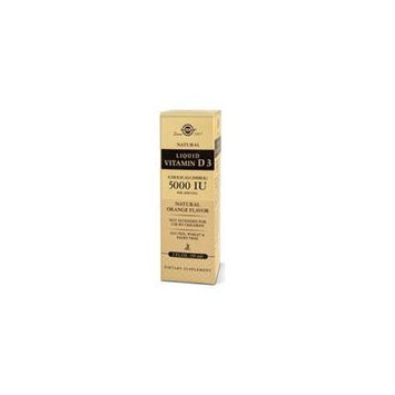 Solgar Liquid Vitamin D3 (Cholecalciferol), Natural Orange Flavor 2 oz 5000 IU (Pack of 3)