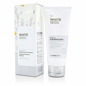 The Face Shop White Seed Exfoliating Foam Cleanser 4.7oz, 140ml