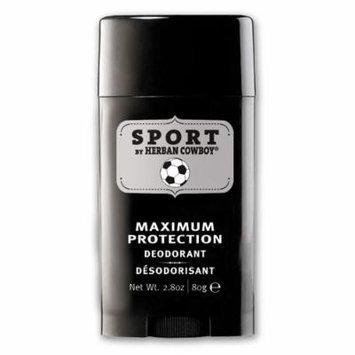 New - Herban Cowboy Deodorant - Sport Maximum Protection - 2.8 oz