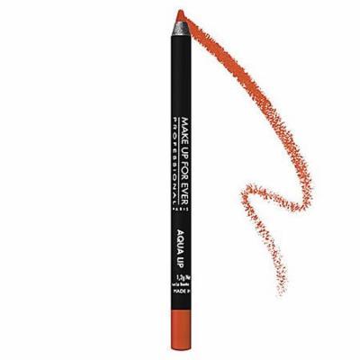 MAKE UP FOR EVER Aqua Lip Waterproof Lipliner Pencil Bright Orange 17C 0.04 oz
