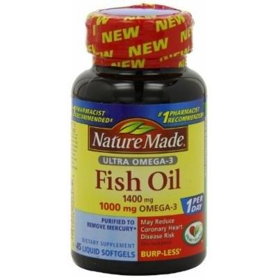 Nature Made Ultra Omega-3 Fish Oil Liquid Softgels 45 CT (PACK OF 5)