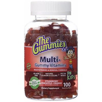 The Gummies Co Multi Vitamin for Kid, Assorted Flavors, 100 Count