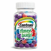 Centrum Flavor Burst Chews Adult Multivitamins, Mixed Fruit 120 ea Pack of 5