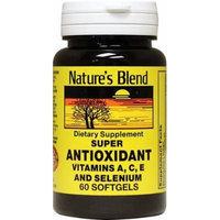 Nature's Blend Super Antioxidant Vitamin A,C,E Softgels 60 CT Pack of 4