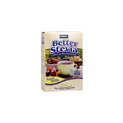 Now Foods French Vanilla Stevia Packets, 75/box (Pack of 2)