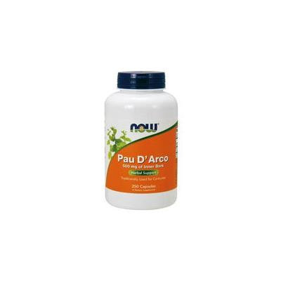 Now Foods Pau D' Arco, 250 Caps 500 mg (Pack of 2)
