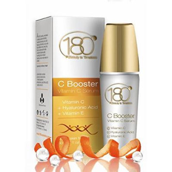 180 Cosmetics C Booster - Best Vitamin C Serum with Hyaluronic Acid and Vitamin E - For Beauty Skin Care and Best Anti Wrinkle Treatment - 1 oz -