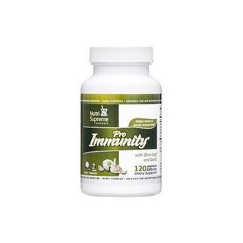 Nutri-Supreme Research Pro Immunity with Olive Leaf and Garlic - 120 Vegetarian Capsules