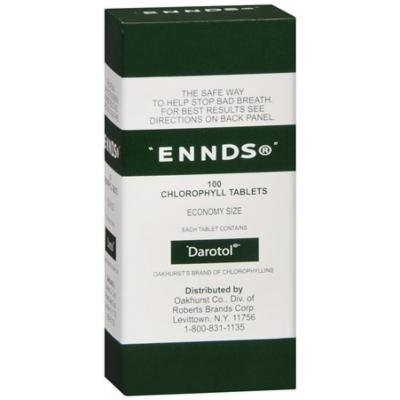 Ennds Chlorophyll Tablets, 100 Ea Pack of 12